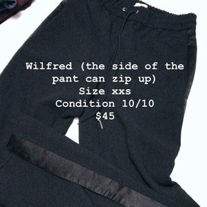 Aritzia Wilfred black track pants